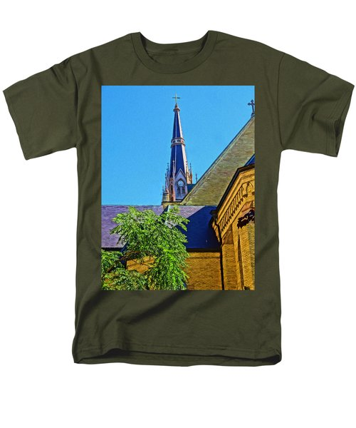Basilica Of The Sacred Heart Notre Dame Men's T-Shirt  (Regular Fit) by Dan Sproul