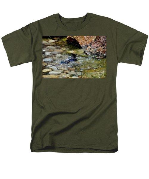 Men's T-Shirt  (Regular Fit) featuring the photograph Bath Time by John Black