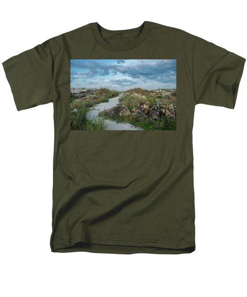 Men's T-Shirt  (Regular Fit) featuring the photograph Beach Path by Louis Ferreira