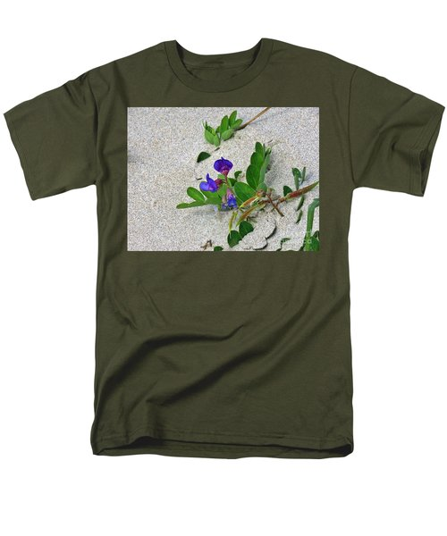 Men's T-Shirt  (Regular Fit) featuring the photograph Beach Pea Vine by Michele Penner