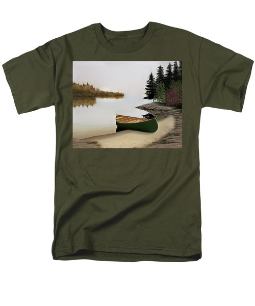 Beached Canoe In Muskoka Men's T-Shirt  (Regular Fit) by Kenneth M  Kirsch