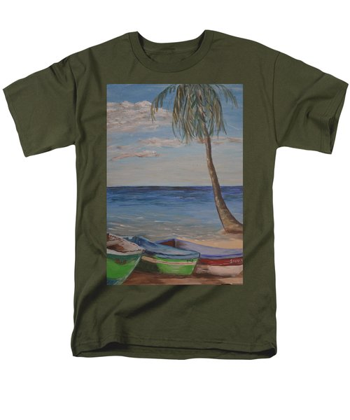 Beached Men's T-Shirt  (Regular Fit) by Debbie Baker