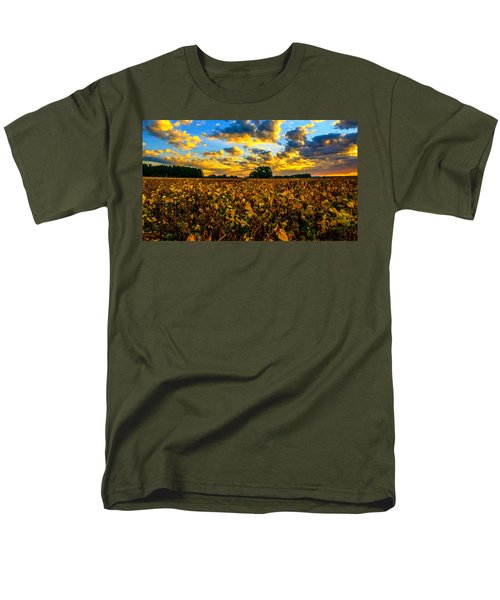 Men's T-Shirt  (Regular Fit) featuring the photograph Bean Field Splendor  by John Harding
