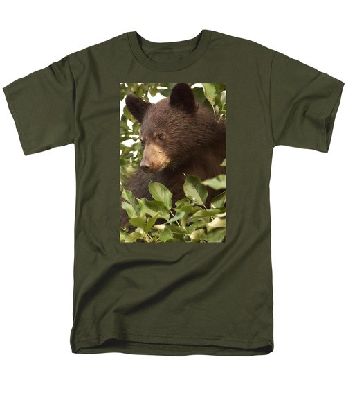 Bear Cub In Apple Tree1 Men's T-Shirt  (Regular Fit) by Loni Collins