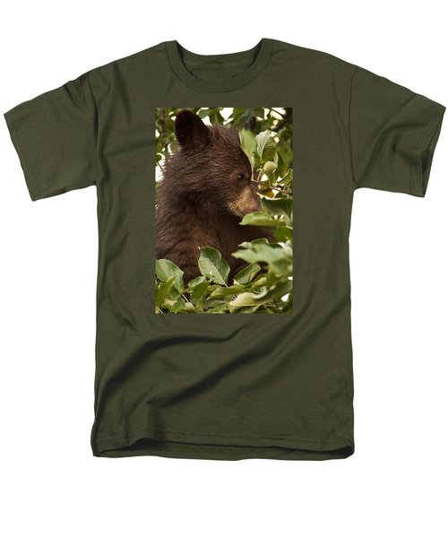 Bear Cub In Apple Tree3 Men's T-Shirt  (Regular Fit) by Loni Collins