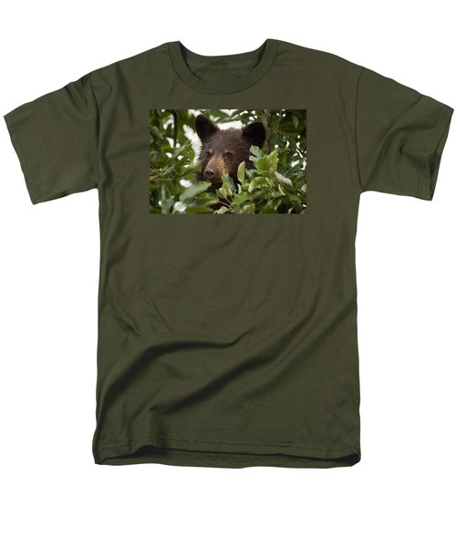 Bear Cub In Apple Tree6 Men's T-Shirt  (Regular Fit) by Loni Collins
