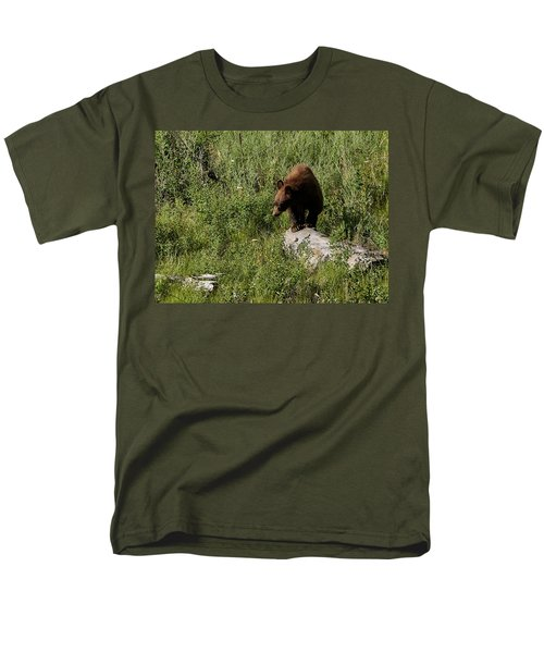 Bear1 Men's T-Shirt  (Regular Fit) by Loni Collins