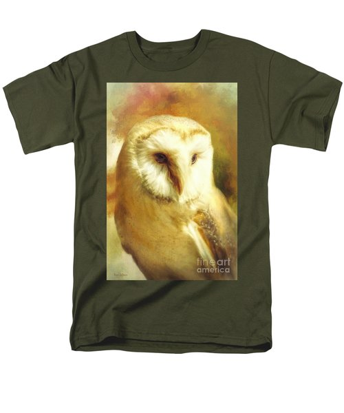 Beautiful Barn Owl Men's T-Shirt  (Regular Fit) by Tina LeCour