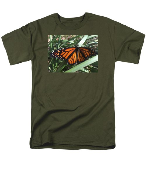 Men's T-Shirt  (Regular Fit) featuring the photograph Beautiful Fall Butterfly  by Paula Brown