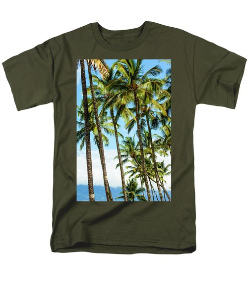 Men's T-Shirt  (Regular Fit) featuring the photograph Beautiful Palms Of Maui 16 by Micah May