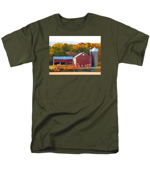 Men's T-Shirt  (Regular Fit) featuring the painting Beautiful Red Barn 2 by Lanjee Chee