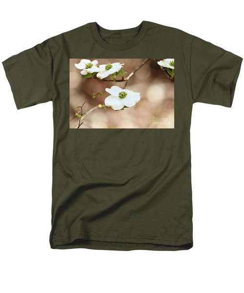 Beautiful White Flowering Dogwood Blossoms Men's T-Shirt  (Regular Fit)