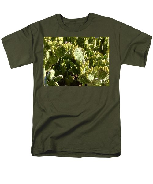 Beaver Tail Cactus, Cave Creek, Arizona Men's T-Shirt  (Regular Fit) by Patricia E Sundik