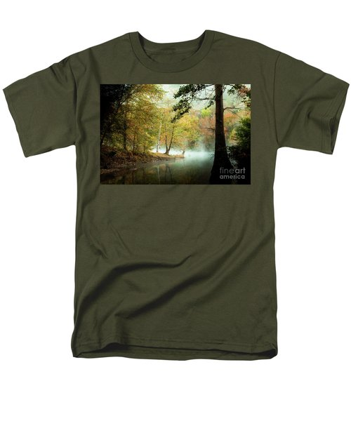 Beavers Bend Creek In Fall Men's T-Shirt  (Regular Fit) by Iris Greenwell