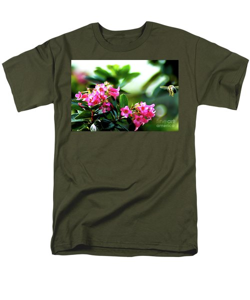 Men's T-Shirt  (Regular Fit) featuring the photograph Bee In Flight by Micah May
