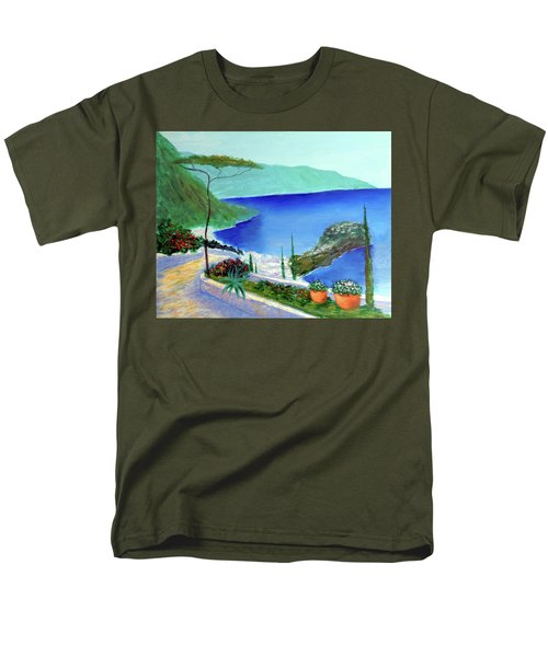 Men's T-Shirt  (Regular Fit) featuring the painting Bella Monaco  by Larry Cirigliano