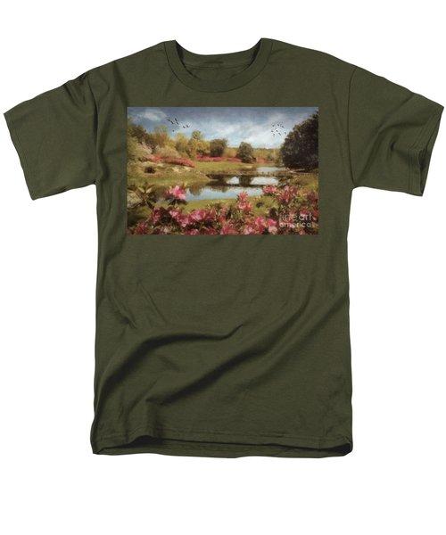 Men's T-Shirt  (Regular Fit) featuring the digital art Bellingrath Gardens by Lianne Schneider