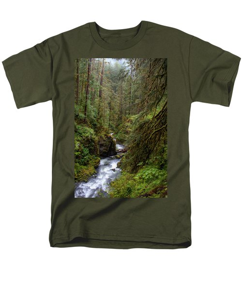 Below The Falls Men's T-Shirt  (Regular Fit) by David Andersen