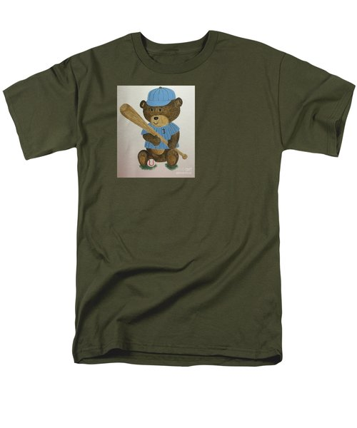 Men's T-Shirt  (Regular Fit) featuring the painting Benny Bear Baseball by Tamir Barkan