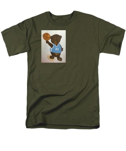Men's T-Shirt  (Regular Fit) featuring the painting Benny Bear Basketball  by Tamir Barkan
