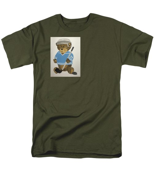 Men's T-Shirt  (Regular Fit) featuring the painting Benny Bear Hockey by Tamir Barkan