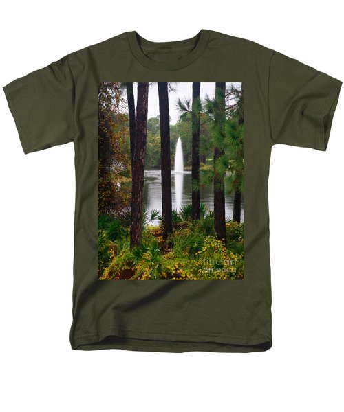 Between The Fountain Men's T-Shirt  (Regular Fit) by Lori Mellen-Pagliaro