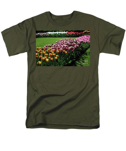 Multicolor Tulips Men's T-Shirt  (Regular Fit) by Ana Mireles