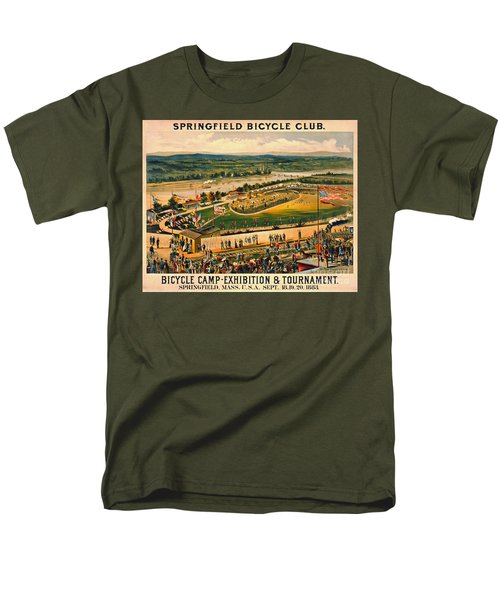 Men's T-Shirt  (Regular Fit) featuring the photograph Bicycle Camp 1883 by Padre Art