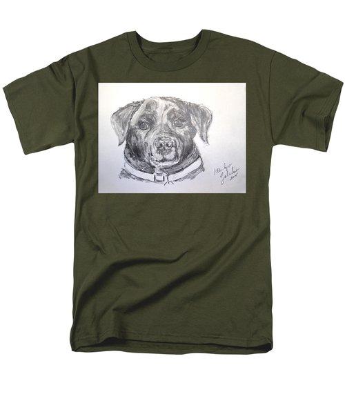 Men's T-Shirt  (Regular Fit) featuring the drawing Big Black Dog by Marilyn Zalatan