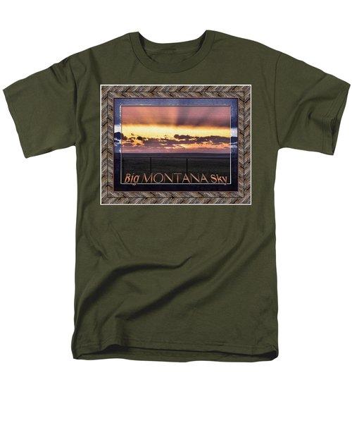 Men's T-Shirt  (Regular Fit) featuring the photograph Big Montana Sky by Susan Kinney