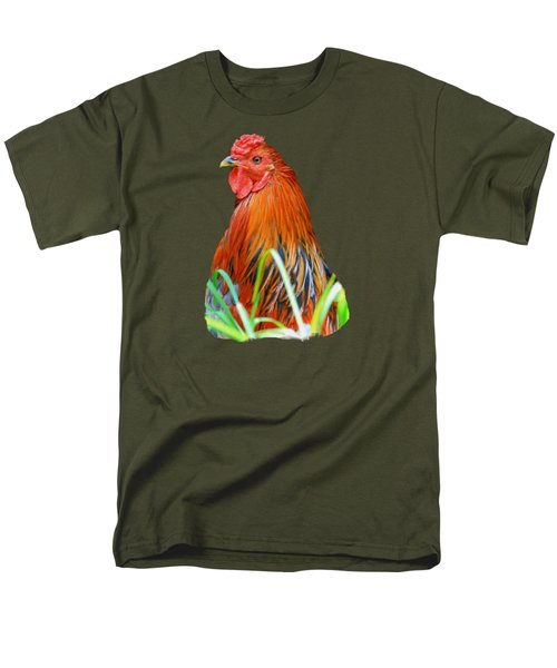 Big Red The Rooster Men's T-Shirt  (Regular Fit) by Pamela Walton