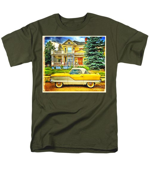Men's T-Shirt  (Regular Fit) featuring the photograph Big Yellow Metropolis by Craig J Satterlee
