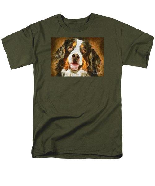 Men's T-Shirt  (Regular Fit) featuring the painting Bimbo - Bernese Mountain Dog by Dragica  Micki Fortuna