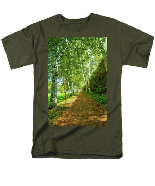 Men's T-Shirt  (Regular Fit) featuring the photograph Birch Gauntlet by Greg Fortier
