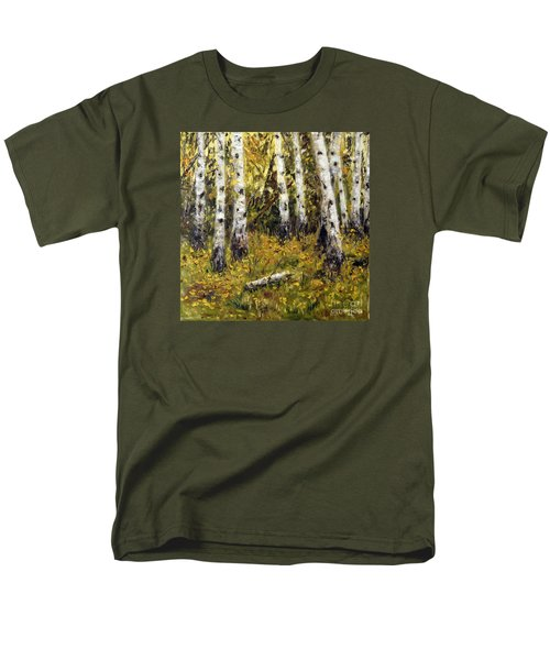 Men's T-Shirt  (Regular Fit) featuring the painting Birches by Arturas Slapsys