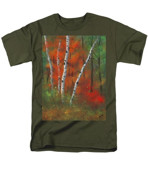 Birches II Men's T-Shirt  (Regular Fit) by Garry McMichael