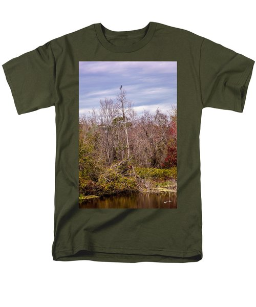 Men's T-Shirt  (Regular Fit) featuring the photograph Bird Out On A Limb 3 by Madeline Ellis