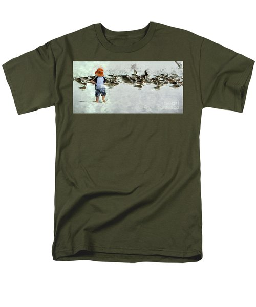 Bird Play Men's T-Shirt  (Regular Fit) by Claire Bull