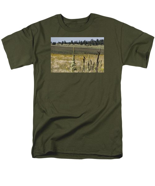 Men's T-Shirt  (Regular Fit) featuring the photograph Birds On Stands by Laura Pratt