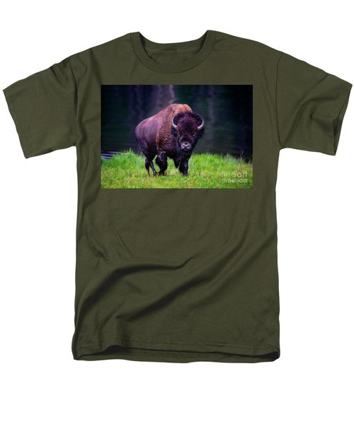 Bison Of Yellowstone Men's T-Shirt  (Regular Fit) by Jim  Hatch