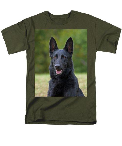 Black German Shepherd Dog Men's T-Shirt  (Regular Fit) by Sandy Keeton