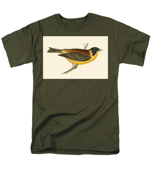 Black Headed Bunting Men's T-Shirt  (Regular Fit) by English School