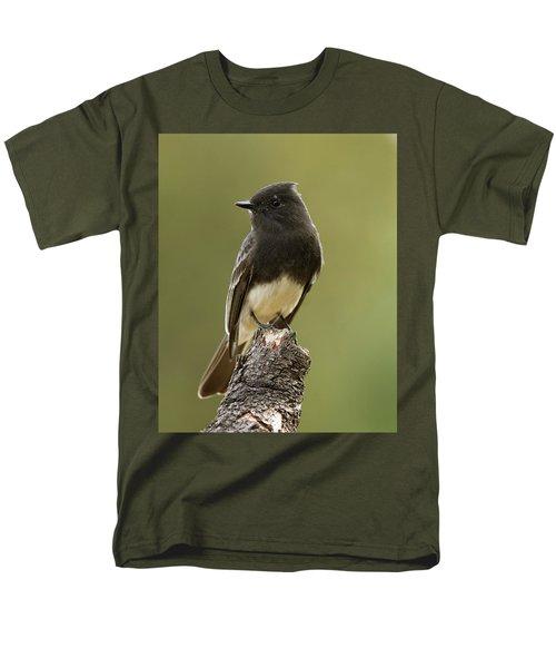 Black Phoebe Men's T-Shirt  (Regular Fit) by Doug Herr