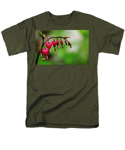 Men's T-Shirt  (Regular Fit) featuring the photograph Bleeding Hearts Flower Of Romance by Debbie Oppermann