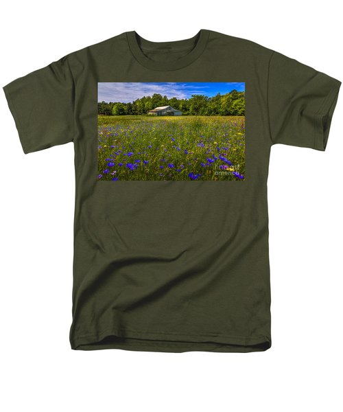Blooming Country Meadow Men's T-Shirt  (Regular Fit) by Marvin Spates