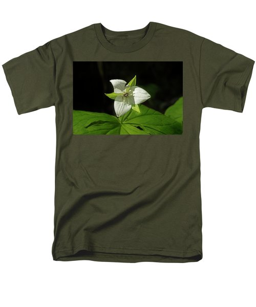 Men's T-Shirt  (Regular Fit) featuring the photograph Blooming Trillium by Mike Eingle
