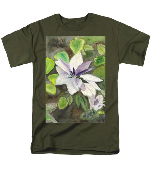 Men's T-Shirt  (Regular Fit) featuring the painting Blossom At Sundy House by Donna Walsh