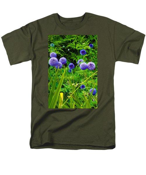 Blue Allium Flowers Men's T-Shirt  (Regular Fit) by Judi Saunders