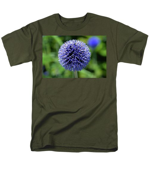 Men's T-Shirt  (Regular Fit) featuring the photograph Blue Allium by Terence Davis