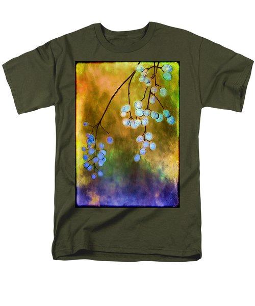 Blue Autumn Berries Men's T-Shirt  (Regular Fit) by Judi Bagwell
